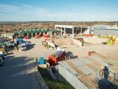 Commercial waste site in Dorset